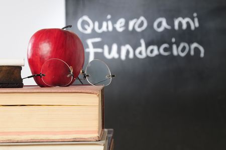 latin language: Spanish class Stock Photo