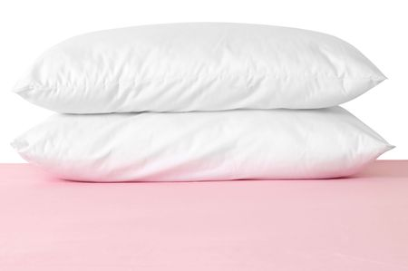 White pillows on pink photo
