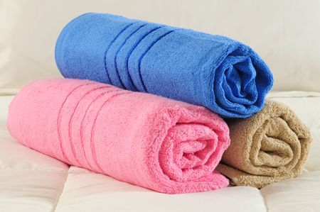 absorb: Towels. Stock Photo