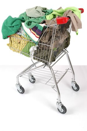 Laundry cart.                              photo