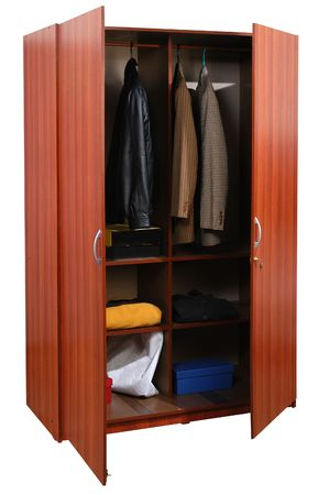 Cabinet with cloths. Stock Photo - 5425583