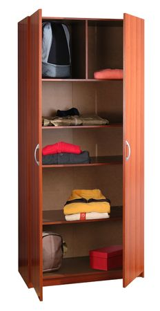 Cabinet with cloths.                               Stock Photo - 5425574