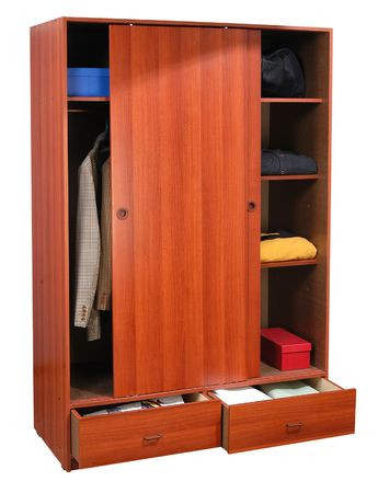 Cabinet with cloths. Stock Photo - 5425597