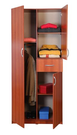Cabinet with cloths. Stock Photo - 5425585