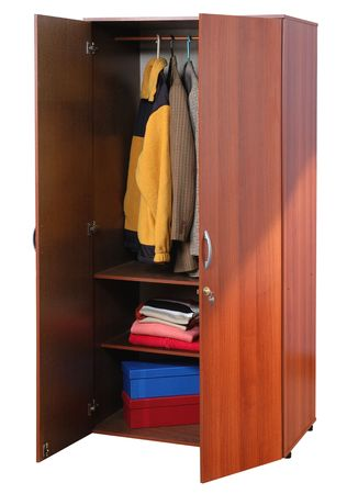 Cabinet with cloths.          Stock Photo - 5425593