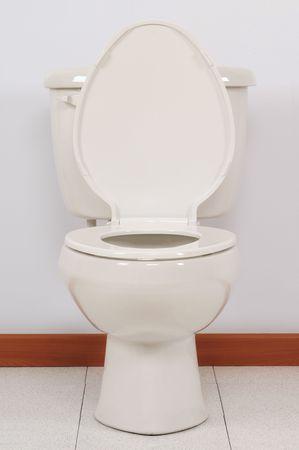 Open toilet cover photo