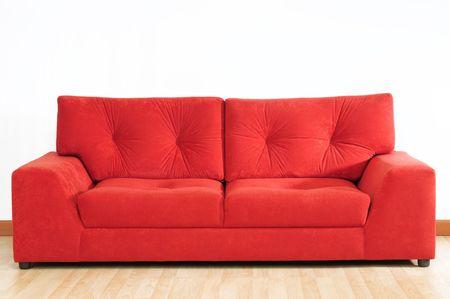 red sofa: Red sofa. Stock Photo