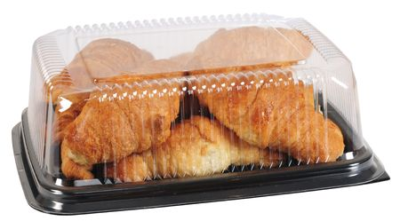 Croissant packaging. Clipping path photo