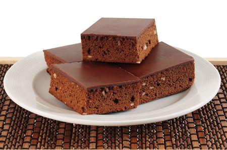 chocolaty: Chocolate cake.