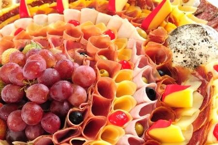 caterer: Food display.