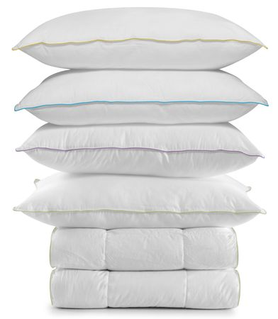 White bedding. Isolated Stock Photo - 6428124