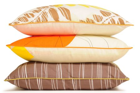 Colorful pillows. Isolated Stock Photo - 6466047