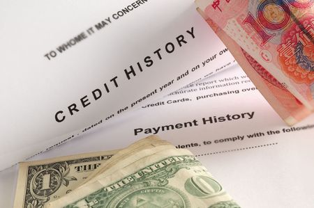 Credit history. Stock Photo - 6499440