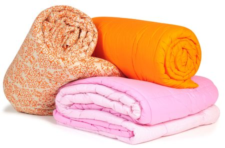 Duvet rolls. Isolated Stock Photo - 6596030