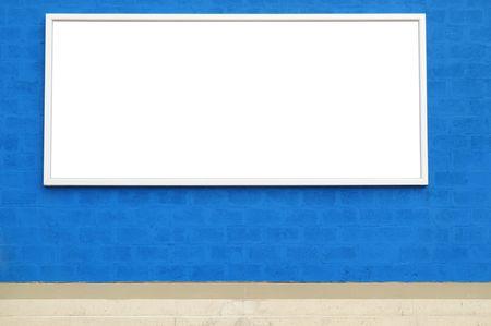advertising board: Exterior advertising board.