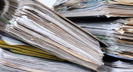 clutter: Paperwork.