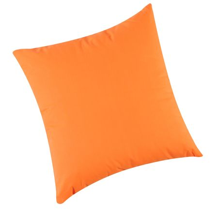 Orange pillow. Isolated Stock Photo - 7015877