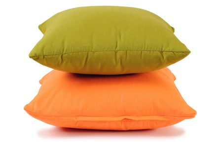Two cushions. Isolated photo