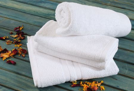 White towels. Stock Photo