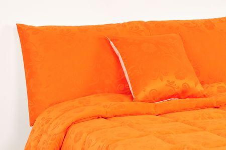 Orange bedding. photo