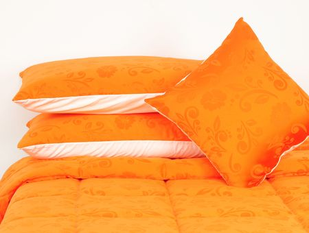 Orange bedding. photo