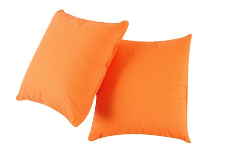 overlapped: Two pillows. Isolated