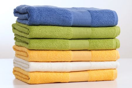 cushioned: Towels. Stock Photo