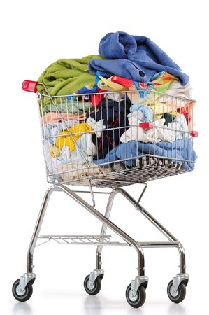 Laundry cart. Isolated photo