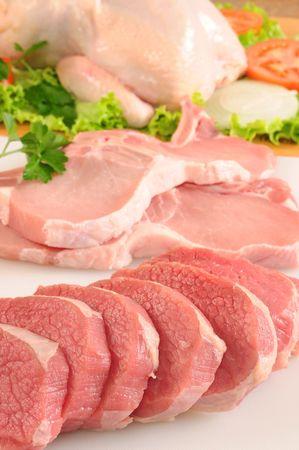 raw meat: Raw meat