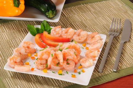 Prepared shrimp. photo