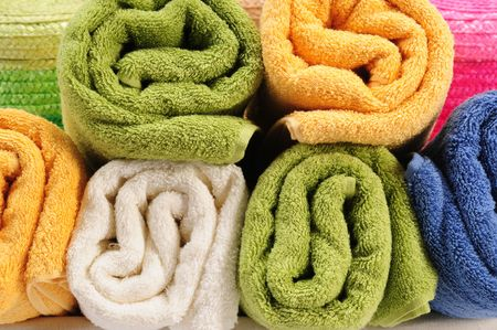Colorful towels. Stock Photo - 7330929