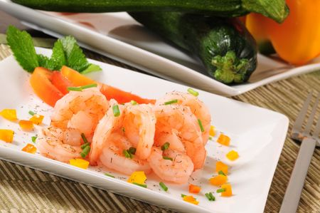 prepared shrimp: Prepared shrimp.