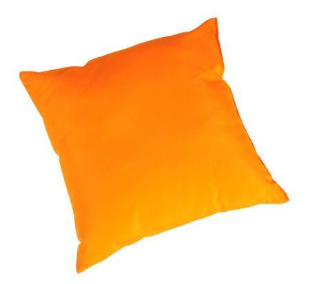 Orange cushion. Isolated Stock Photo - 7413327