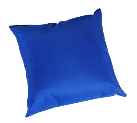 Blue cushion. Isolated Stock Photo - 7413371