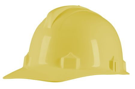 Yellow helmet. Isolated Stock Photo - 7432487