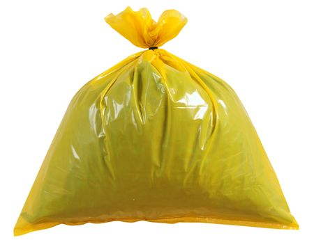Garbage bag. Isolated photo