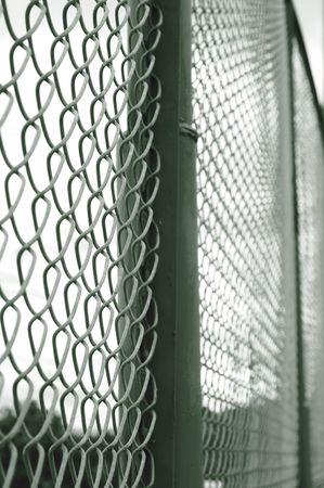 Metallic fence.