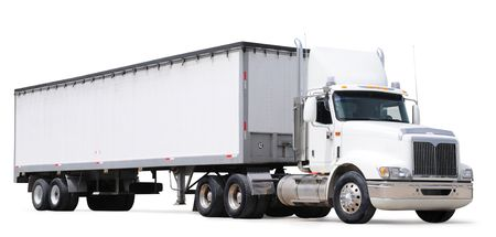 freight: Cargo truck. Isolated Stock Photo