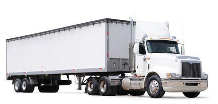 Vrachtwagen. Geïsoleerd