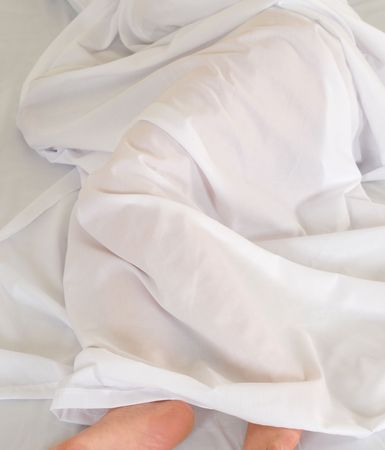Sleeping under white. Stock Photo - 7486516