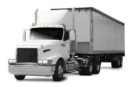 cargo van: Cargo truck. Stock Photo