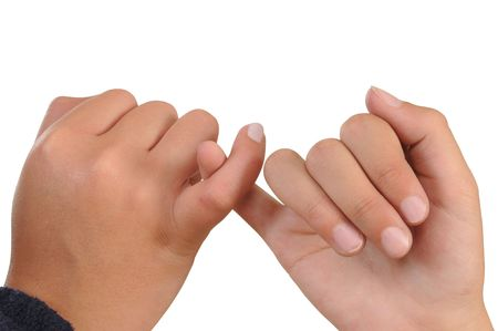 promise: Pinky swear. Isolated