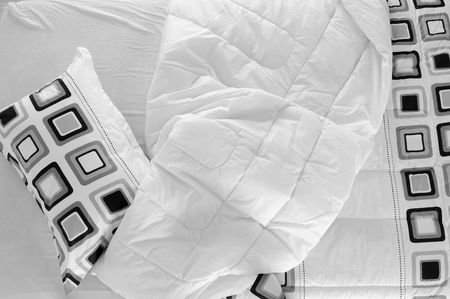 bed spreads: Messy bed.