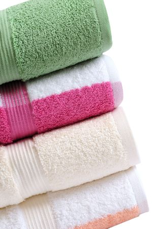 Colorful towels. Isolated Stock Photo - 7615337