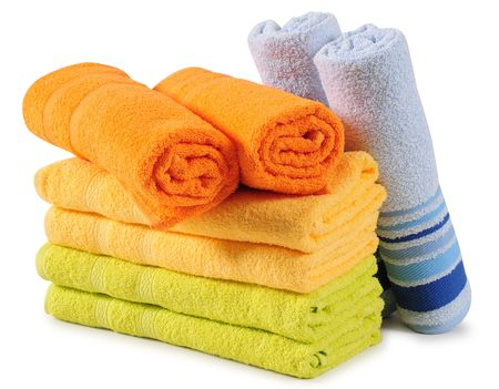Colorful towels. Isolated Stock Photo - 7615331
