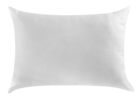 bed spreads: White pillow. Isolated