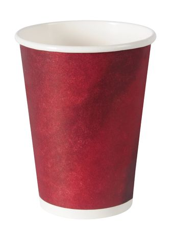 coffee to go: Empty cup. Isolated