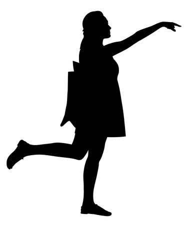 Waiving silhouette. Stock Photo - 8061545