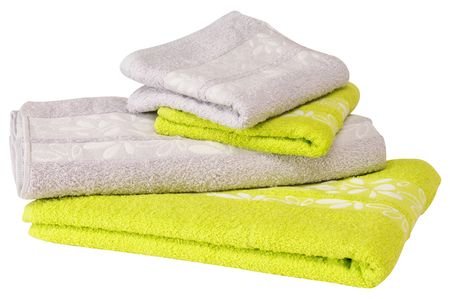 Colorful towels. Isolated Stock Photo - 8061025