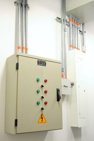 Electric control panel. photo